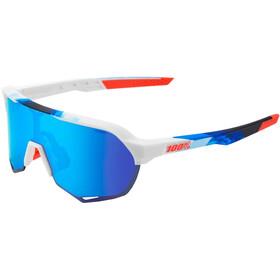 100% S2 Hiper Mirror Glasses Matte White/Geo Print